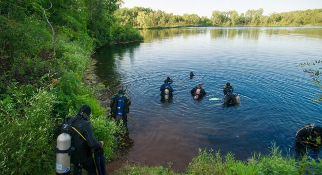 Fresh water Scuba Diving Cuyuna Country State Park