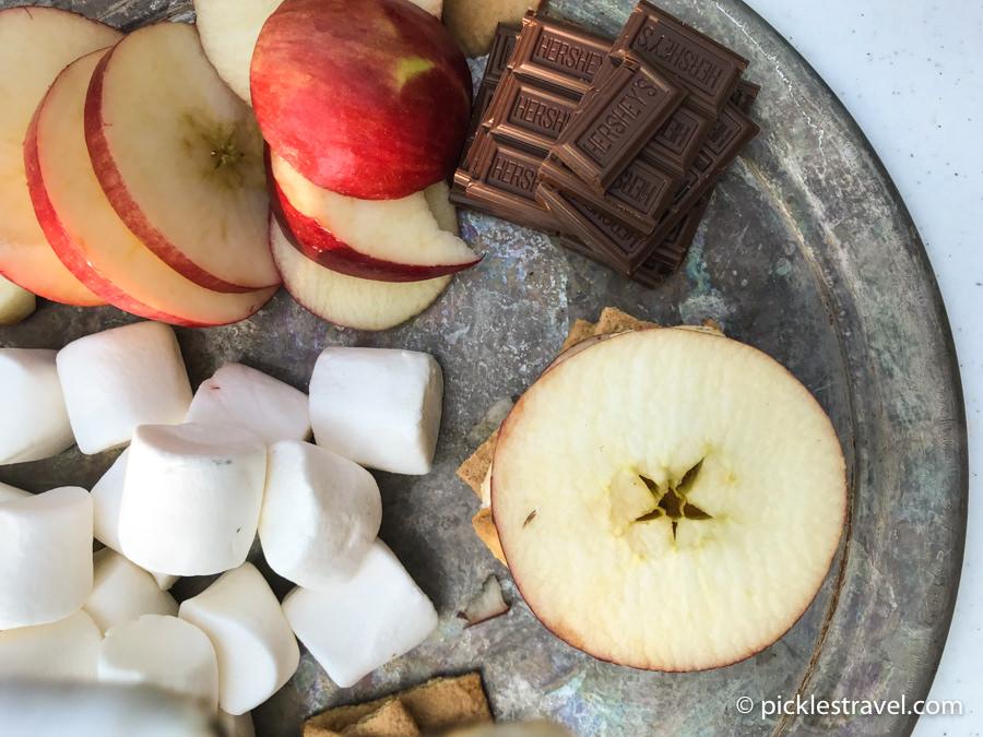 Fresh Apple s'more recipe