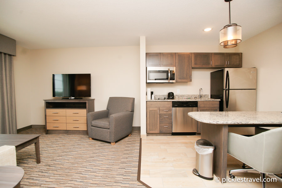 Fancy living quarters at the GrandStay Little Crow Resort