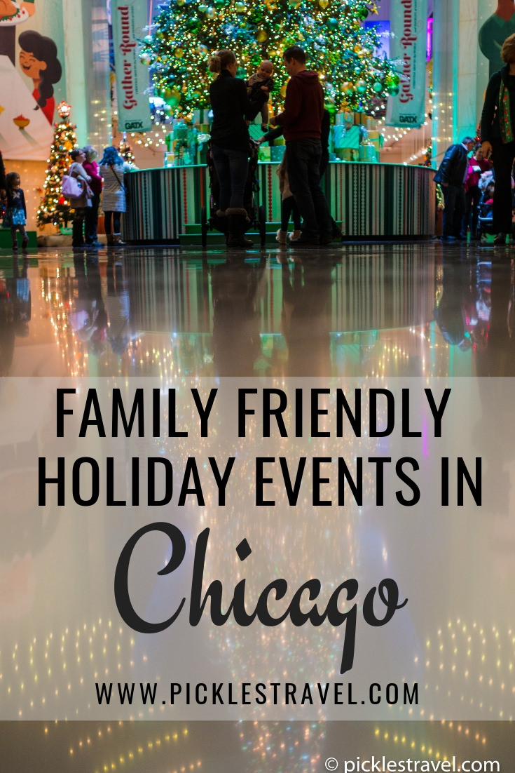 Family Friendly Holiday Events in Chicago including ice skating, Christmas trees, lighting ceremonies, parades, food, shopping and more travel activities